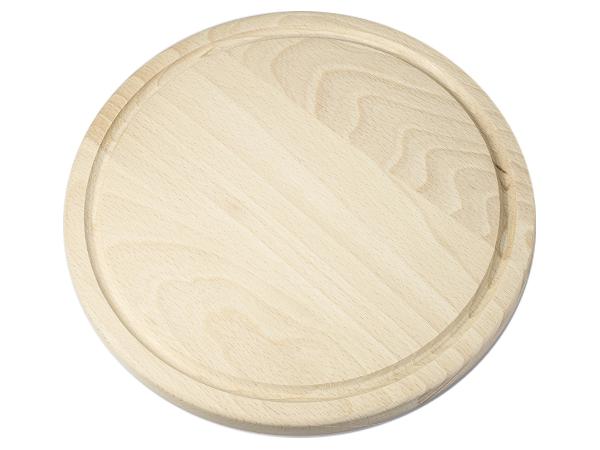 Holzbrettchen Rund holzbrettchen rund 25 cm werbeartikel graviert