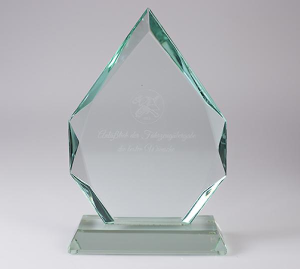 Pr sent glastroph e mit gravur r diger werbeartikel for Glaspokale mit gravur